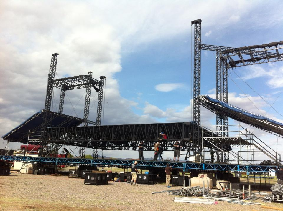 Staffing and labor guide festival and event production for Stages in house construction