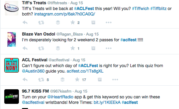 using hashtags for social media and festivals