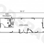 10' x 44' Office Trailer Floor Plan & Elevations
